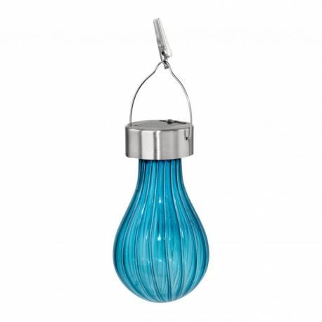 Соларна лампа - висяща, Ø 7 см x 19 см, синя