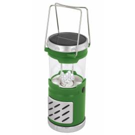 Соларна лампа - градински фенер 27 см, зелен