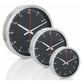 Стенен часовник - черен - M