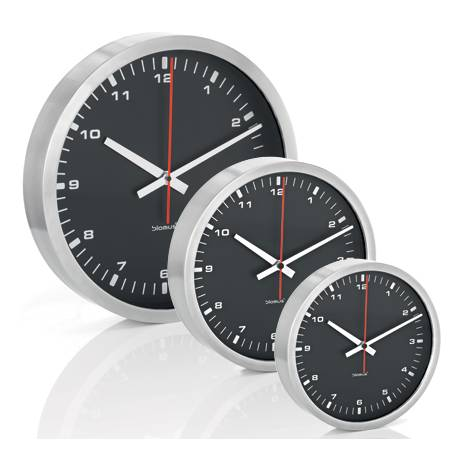 Стенен часовник - черен - L