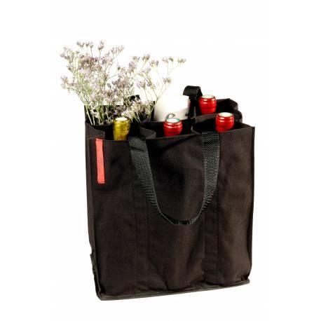 Чанта за 6бутилки,тирбушон,вестник и др. - черна