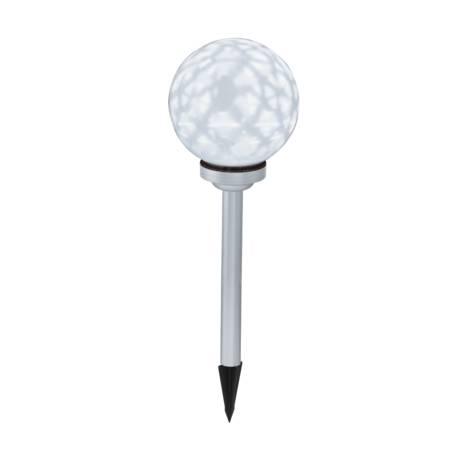 Соларна лампа - бяла топк 20 см, въртяща се светлина
