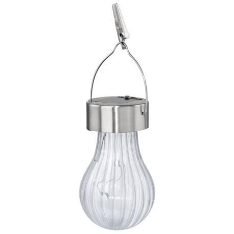 Соларна лампа - висяща, Ø 7 см x 19 см, прозрачна