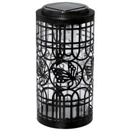 Соларeн фенер - черен, метал, h 20.5 x 10 см