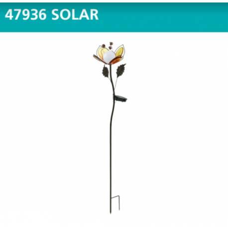 Соларна лампа - цвете h - 84 см, метал