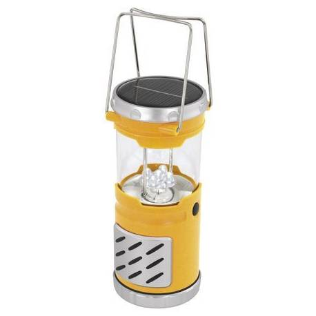 Соларна лампа - градински фенер 27 см, жълт