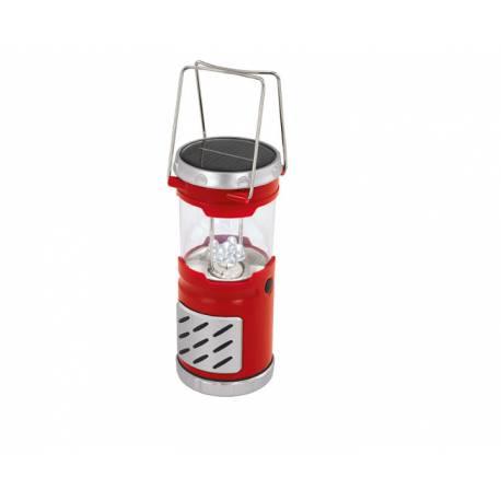 Соларна лампа - градински фенер 27 см, червен