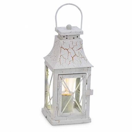 Настолна лампа - бяла патина -1X60W