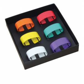 Пръстени за салфетки - 6ч.- различни цветове
