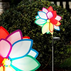 Соларна лампа -  цвете h - 85 см, метал и пластмаса