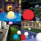 Плаващ Соларен Глобус  - LED с RGB