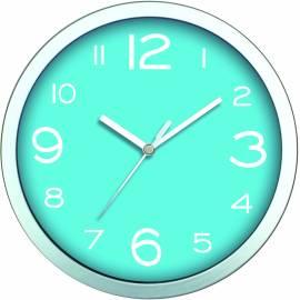 Стенен часовник 20 см, PVC, светло-син