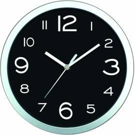 Стенен часовник 20 см, PVC, черен