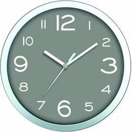 Стенен часовник 20 см, PVC, сив