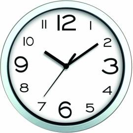 Стенен часовник 20 см, PVC, бял