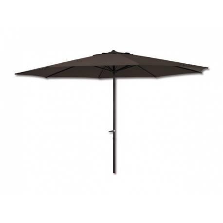 Градински чадър 3 м, тъмно кафяв