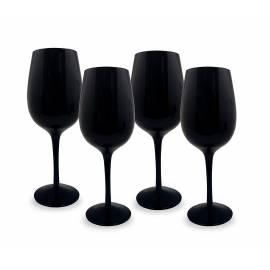 Vin Bouquet Сет от 4 черни чаши за вино