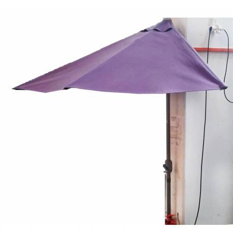 Ъглов чадър за балкон със стойка и манивела - полукръг