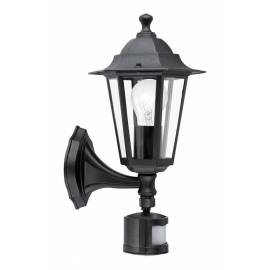 Градински фенер със сензор 1хE27, аплик за стена