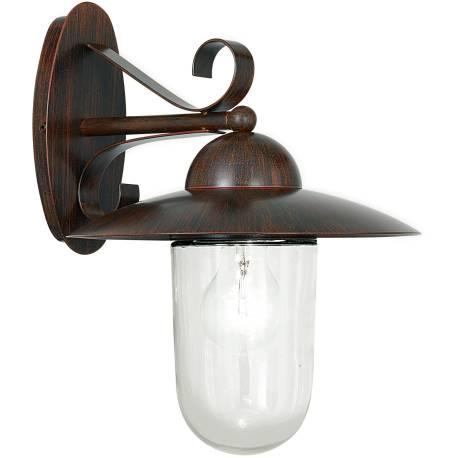 Външна лампа 1 x E27, кафяво, антик