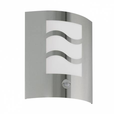 Външен фасаден аплик 1хЕ27 инокс/вълни, сензор  CITY 1
