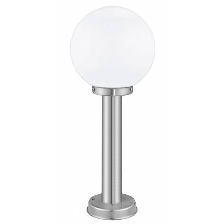 Стояща лампа за градина 1хЕ27 H- 500 инокс/оп.глобус NISIA