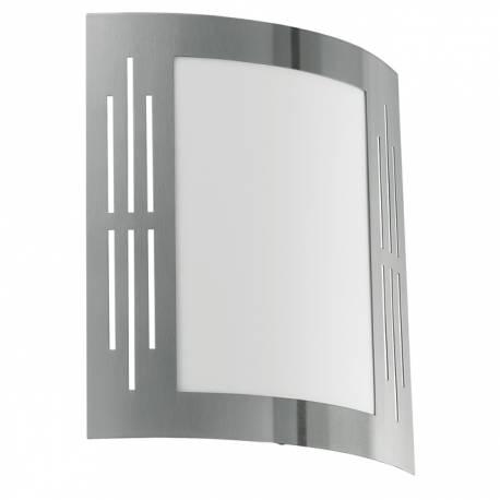 Външен фасаден аплик 1xE27 неръждаема стомана инокс с процепи CITY