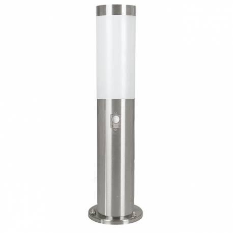 Стояща лампа за градина 1xE27 сензор H450 неръждаема стомана инокс HELSINKI
