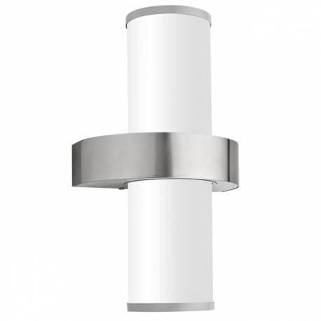 Външен фасаден аплик 2xE27 неръждаема стомана инокс/сребро BEVERLY