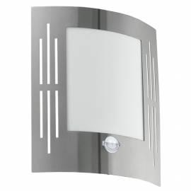 Външен фасаден аплик 1xE27 неръждаема стомана инокс с процепи/сензор CITY