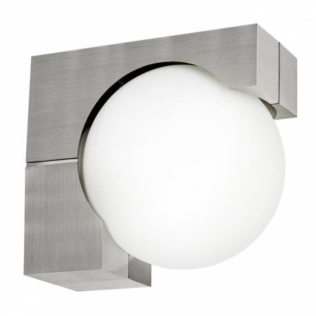 Външен фасаден аплик 1хE27 цокъл/бяло OHIO