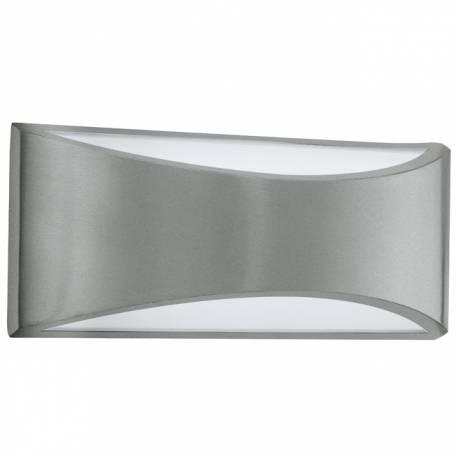 Външен фасаден аплик LED 2х6W 2x420lm сребро/бяло VOLPINO