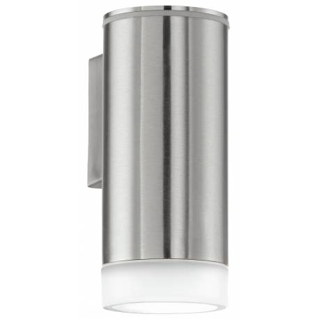 Външен фасаден аплик-LED 1хGU10 3W 200lm неръждаема стомана инокс/сатен. RIGA-LED