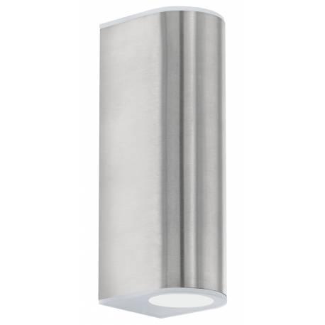 Външен фасаден аплик-LED 2х2,5W 360lm неръждаема стомана инокс/сатен.  CABOS