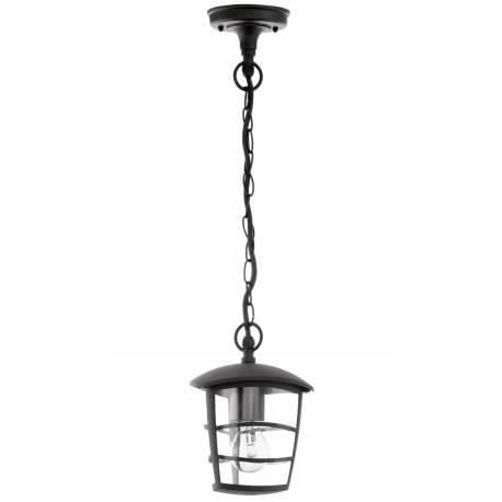Външна лампа-пендел, висяща 1хE27 черно ALORIA