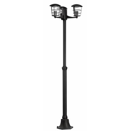 Външна лампа-стояща 3хE27 черно ALORIA