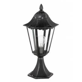 Външна лампа-настолна1хE27 черно/сребро -патина  NAVEDO