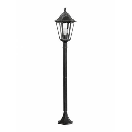 Външна лампа-стояща 1хE27 H-1200 черно/сребро -патина NAVEDO