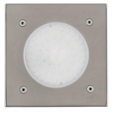 Външна лампа за вграждане 1x2,5W стомана квадрат 102х102  LAMEDO