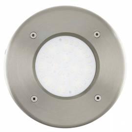 Външна лампа за вграждане в под/земя 1x2,5W стомана кръгла Ф102 LAMEDO