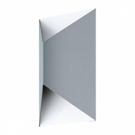 Външен аплик-LED 2x2,5W 360lm сребро/бяло PREDAZZO