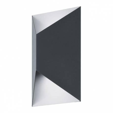 Външен аплик-LED 2x2,5W 360lm антрацит/бяло PREDAZZO