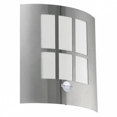 Външен аплик-LED 1х3,7W 320lm ст.инокс/бяло сензор CITY LED