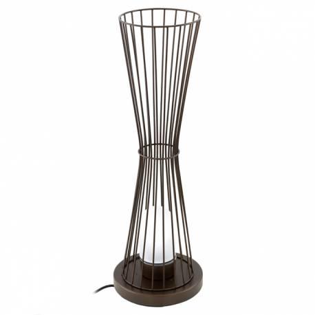 Външна лампа-стояща 1хE27 H750 кафяво/сат. TERRICO