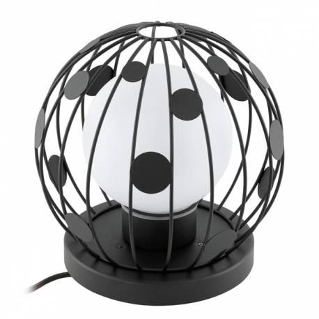 Външна лампа-стояща 1хE27 черно/сат. TERRICO