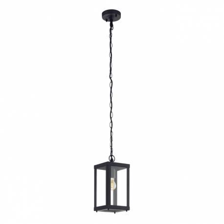 Външна лампа-пендел, висяща 1хE27 черно/прозрачно ALAMONTE 1