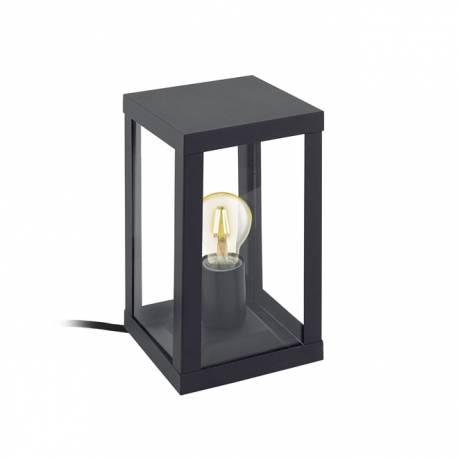 Външна лампа-настолна 1хE27 черно/прозрачно ALAMONTE 1
