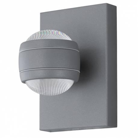 Външен аплик-LED 2X3,7W 2х280lm сребро SESIMBA