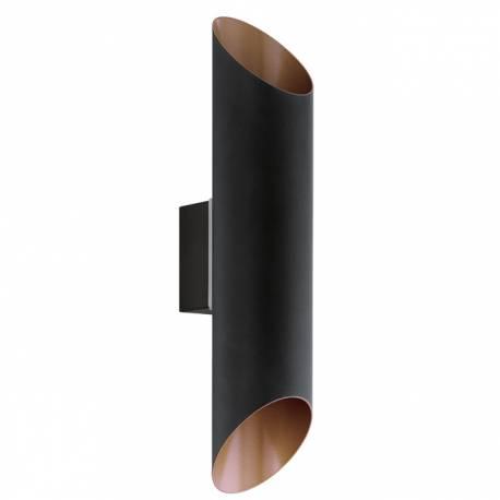 Външен аплик-LED 2X3,7W 640lm черно/мед  AGOLADA