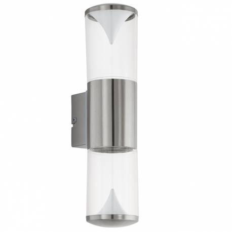 Външен аплик-LED 2X3,7W 560lm инокс/бяло PENALVA